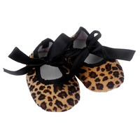 Kids Baby shoes girls Bowknot Leopard Printing Newborn Cloth Shoes baby shoes