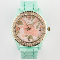 Rose Dial Watch Mint One Size For Women 24026452301