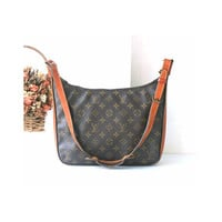 Auth Louis Vuitton Monogram Bagatelle PM Shoulder bag Vintage LV handbag