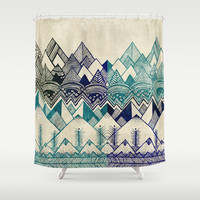 Two Worlds Shower Curtain by Rskinner1122