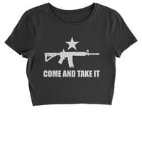 Come And Take It 2nd Amendment Gun Rights Cropped T-Shirt