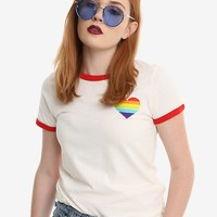 Pride Hearts Girls Ringer Tee