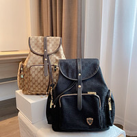 GUCCI Canvas Retro All-match Men's and Women's Backpack