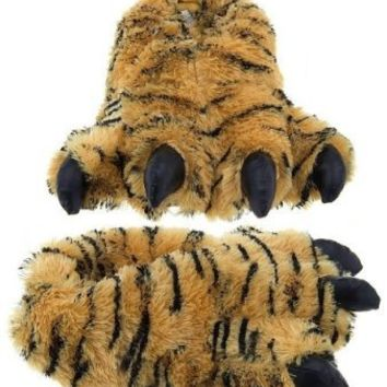 """Wishpets 12"""" Furry Bengal Tiger Slippers Plush Toy"""
