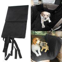 Solid Black Waterproof Car Seat Cover For Pet Protector Travel Car Travel Accessories 120cm X 150cm