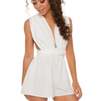 At First Sight Romper - White