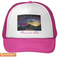 Hot Pink or Black Customizable Wakeboarding Trucker Hat