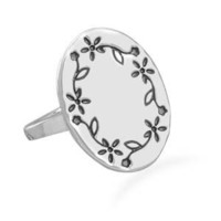 CleverSilver's Floral Design Sterling Silver Ring