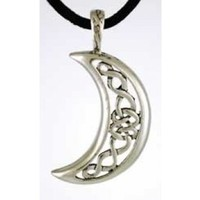 Celestial Celtic Moon  Pendant Amulet Necklace Wicca  NEW   hippie  jewelry