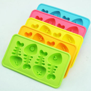 Stylish Kitchen Helper Easy Tools Hot Deal Cute On Sale Home Creative Cartoons Ice Freezer Thicken Ice Maker Silicone Hot Sale Mould [6283275846]