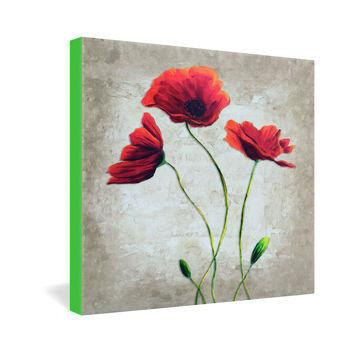 Madart Inc. Vibrant Poppies I Gallery Wrapped Canvas