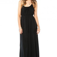Ciel Maxi Dress in Black - ShopSosie.com