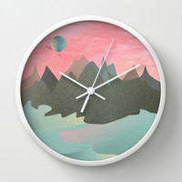 Once in a Blue Moon Wall Clock by Suburban Bird Designs   Society6