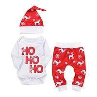 Baby Christmas Deer Snowflake Clothes