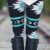 Mint Aztec Leggings