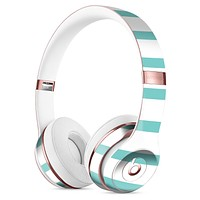 Teal Horizonal Stripes Full-Body Skin Kit for the Beats by Dre Solo 3 Wireless Headphones