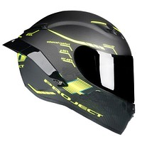 Carbon Painting Full Face Motorcycle Racing Helmet