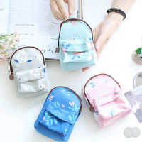 Floral Print Backpack Shaped Coin Purse