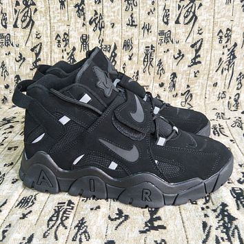 Nike Air Barrage Mid Hot Selling Platform Couple Sneakers Shoes Black