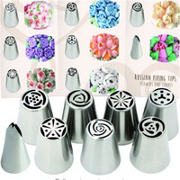 8 Tools Set - TOP QUALITY - Russian Piping Tips Icing Nozzles - For Cakes or Cupcakes Decoration - Make Flowers and Leaves