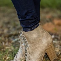 Leave Them Behind Booties-Stone