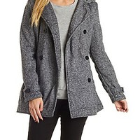 MARLED FLEECE COAT WITH HOOD