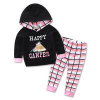 Girls Happy Camper Outfit - 9M To 24M