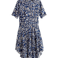 H&M - Patterned Dress - Dark blue/Floral - Ladies
