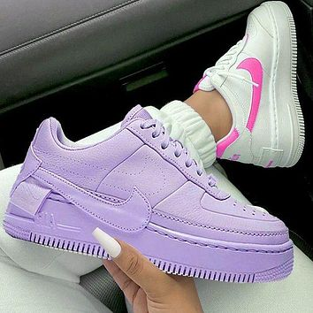 Nike Air Force 1 AF1 Flat Shoes Sports Sneakers Pure purple