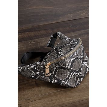 Snake Print Classic Shaped Fanny Pack