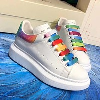 Alexander McQueen new color couple casual shoes