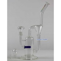 "Flame 12"" Inline Recycler Glass Bong with Oil Accessories - Flame Glass Bongs - 74.99 US and Canada"