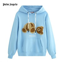 Palm Angles new fashion casual broken teddy bear pattern cotton long-sleeved sweater