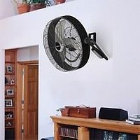 Industrial High Velocity Floor or Wall Fan w Remote Control Turbo Force Quick Mount