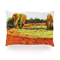 "Jeff Ferst ""Summer Breeze"" Orange Foliage Oblong Pillow"