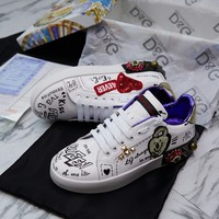 D&G Dolce&Gabbana Women Men 2020 New popular Casual Shoes Sneaker Sport   Running Shoes
