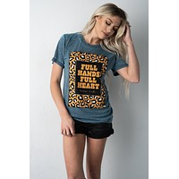 Full Hands Full Heart Mama Life Graphic Tee (S-2X)