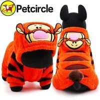 petcircle 2017 hot sale pet dog cat clothes tiger dog winter coats warm dog hoodies for chihuahua small and large dog costumes