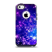 The Glowing Pink & Blue Starry Orbit Skin for the iPhone 5c OtterBox Commuter Case