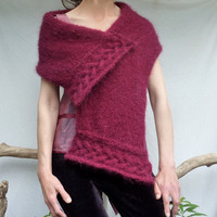 Celtic Song Scarf hand knitted in mulled wine colored by InnerWild