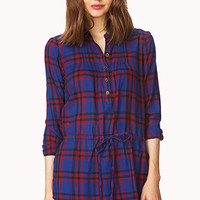 FOREVER 21 Day-Off Plaid Top