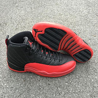 "Air Jordan 12 ""Flu Game""  AJ 12 Men Basketball Shoes"