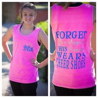Monogrammed Tank- Forget glass slippers this princess wears cheer shoes