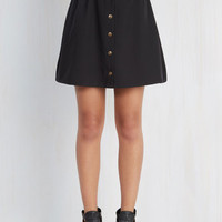 80s Short Length A-line Curry Your Enthusiasm Skirt in Black
