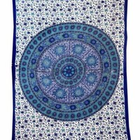 Indian Star Moon Hippie Mandala Psychedelic Wall Tapestry Throw Ethnic Art 5475