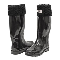Forever Young Women Rubber Rain Boots, Knit Sock Cuff & Quilted Styles