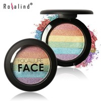 Focallure FACE Baked Mars Prism Rainbow Highlighter Makeup Palette Cosmetic Eyeshadow