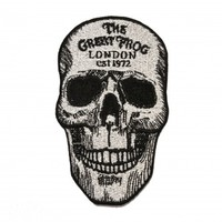 Silver Skull Patch - The Great Frog London