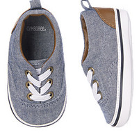 Chambray Crib Shoes
