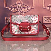Gucci new trend printing flap all-match one-shoulder messenger bag